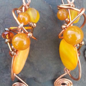 bronze-glob-earrings