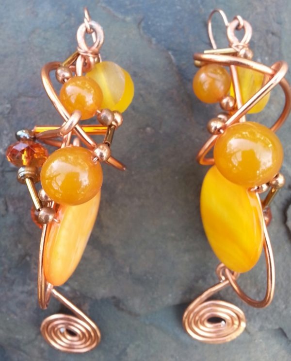 bronze-glob-earrings