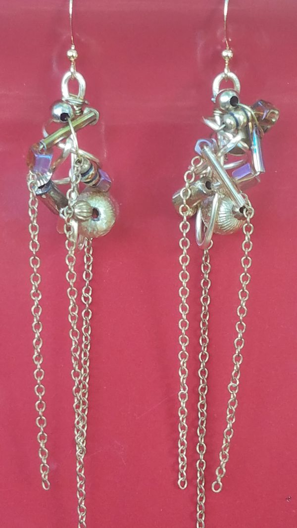 silver-glob-earrings-with-chains