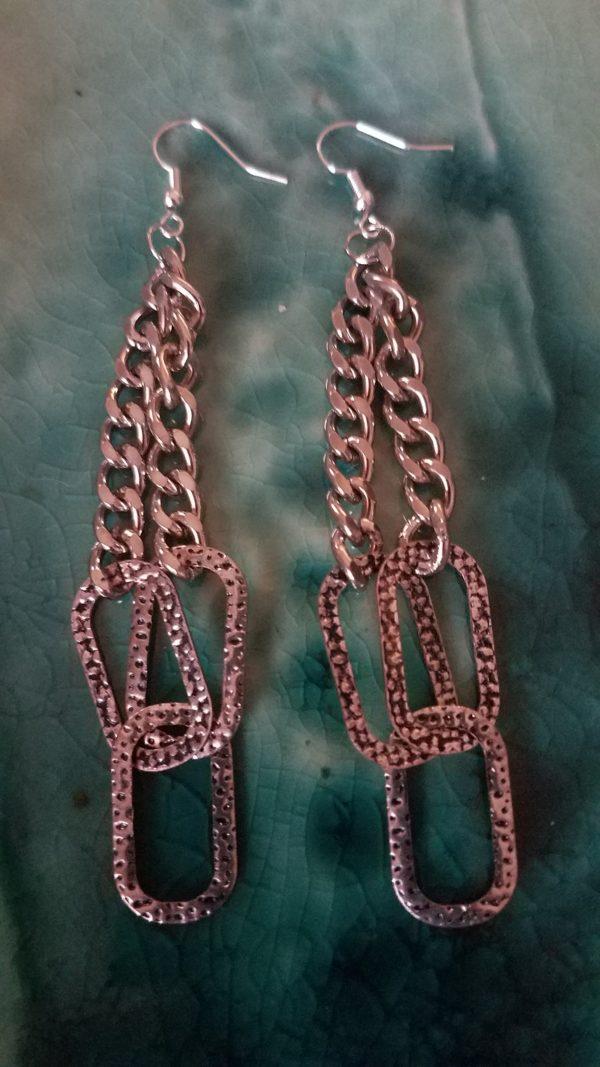 silver-chain-earrings