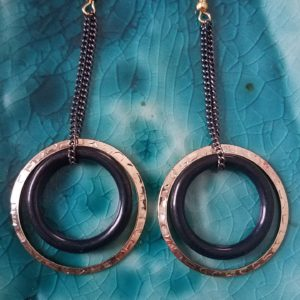 gold-and-black-hoop-earrnings