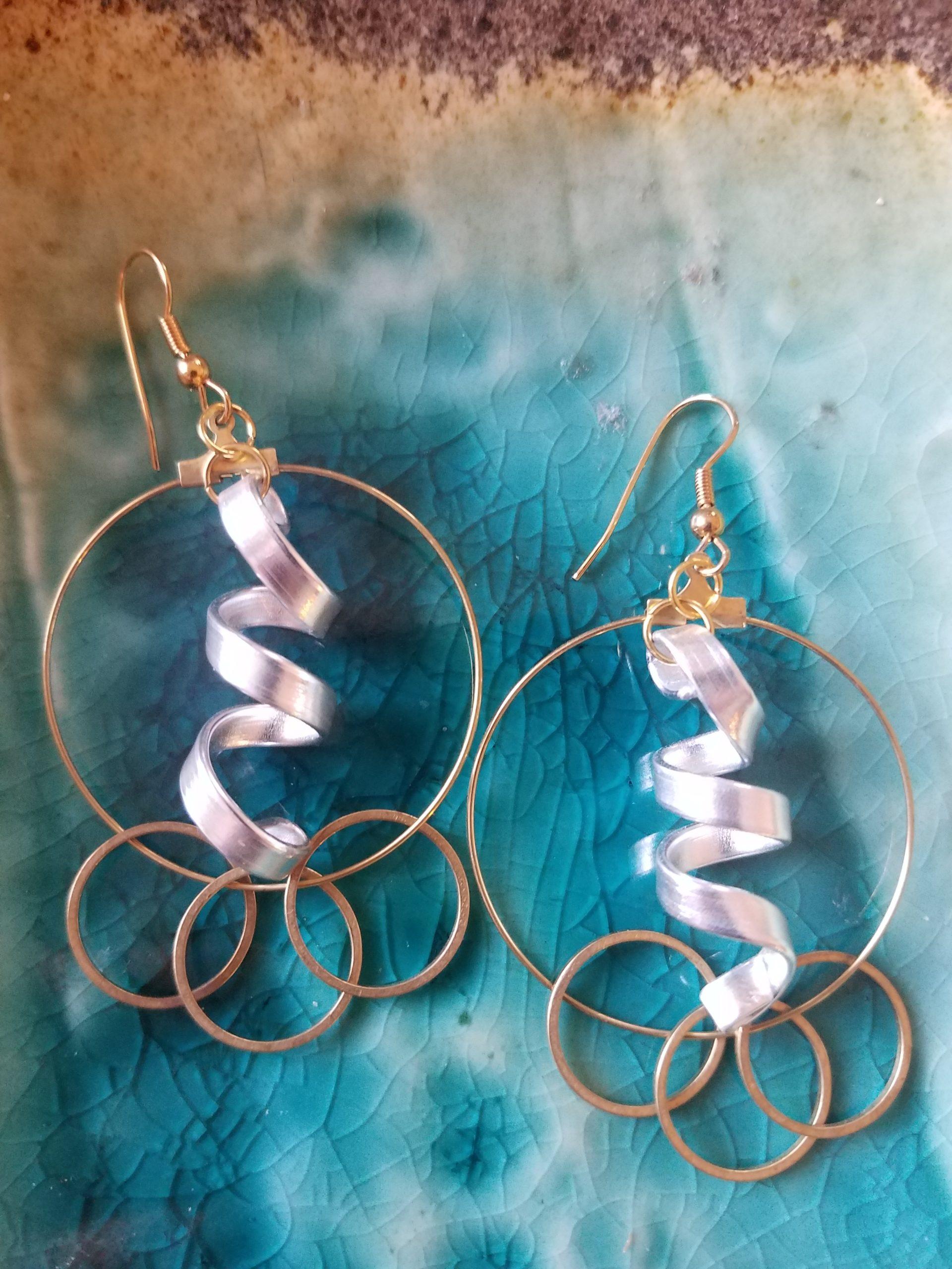 mixed-metal-hoop-earrings